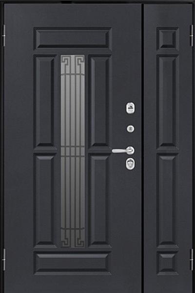 Usa metalica pentru exterior Athena M 862-2 dubla 125 x 205 cm + accesorii