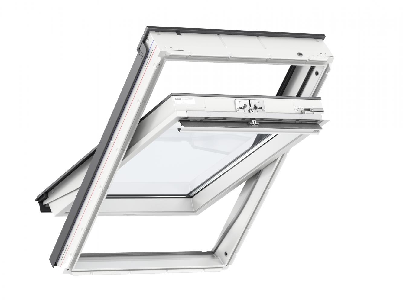 Fereastra de mansarda poliuretan Velux GLU 0051 Standard, deschidere de sus, MK06 78x118 cm