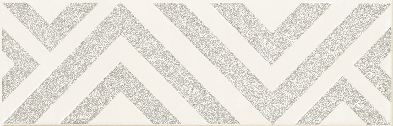 Decor Tubadzin Burano bar C 23.7x7.8 cm, white
