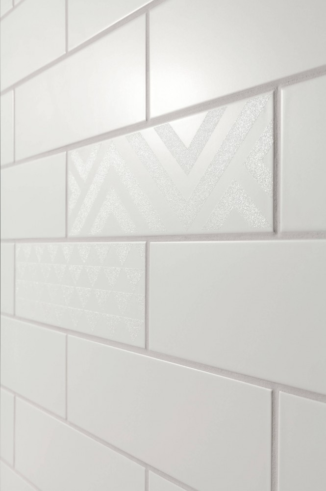 Decor Tubadzin Burano bar B 23.7x7.8 cm, white
