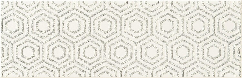 Decor Tubadzin Burano bar A 23.7x7.8 cm, white