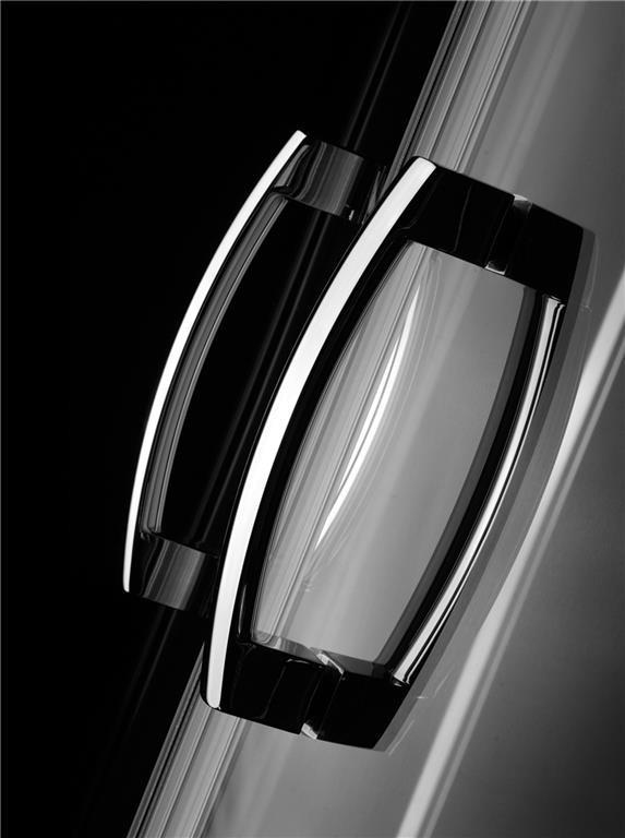 Usa dus glisanta Radaway PREMIUM PLUS DWJ, 100 cm, sticla maro