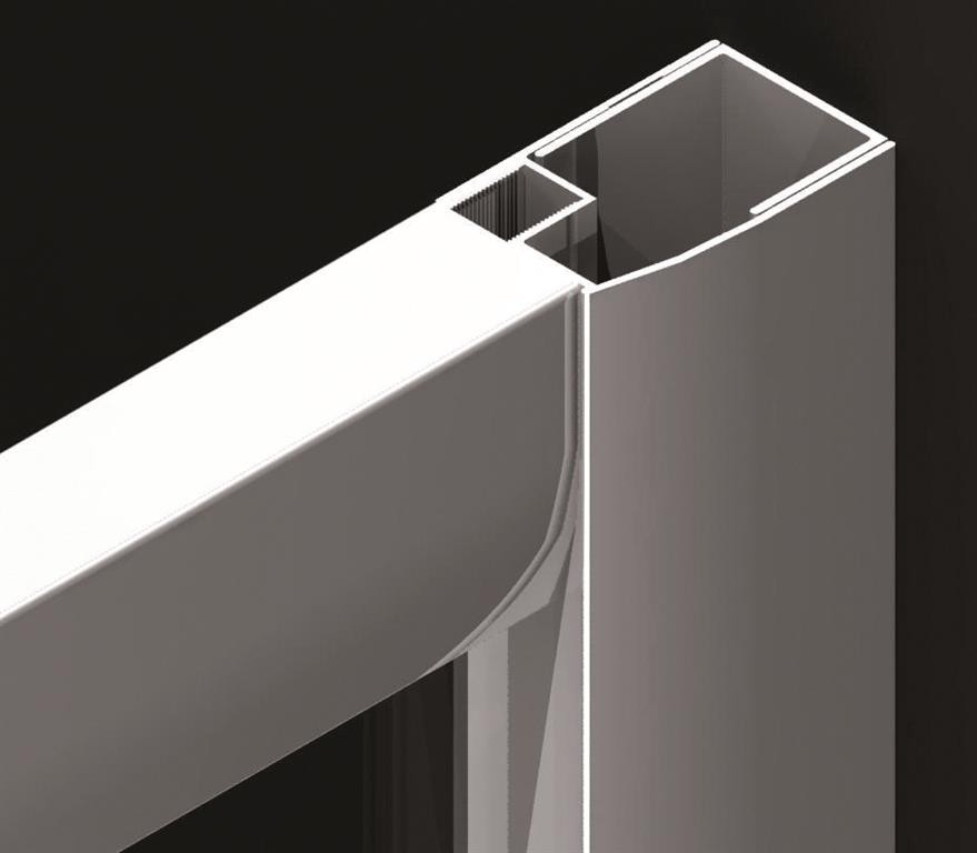 Paravan fix lateral pentru cada, Radaway VESTA DWD + S, 80 cm