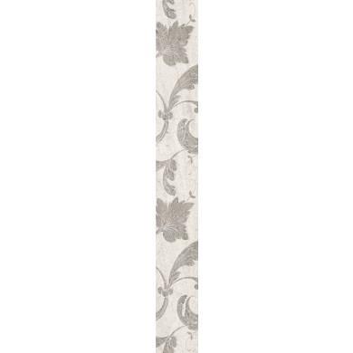 Decor Nove  6x50 cm, leaves light grey